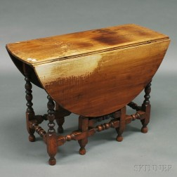 William & Mary-style Cherry Gate-leg Table