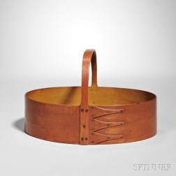 Shaker Bittersweet/Red and Yellow-stained Oval Fixed Handle Carrier