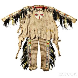 Rare and Important Blackfeet Chief's Shirt and Leggings