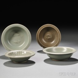 Four Longquan Celadon Small Dishes