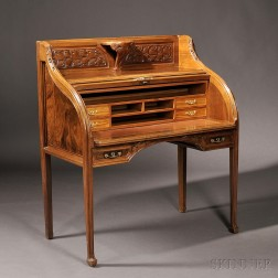 Art Nouveau Roll-top Desk