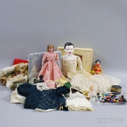 Group of Assorted Dolls, Doll Parts, and Doll Accessories