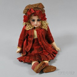 Bébé Jumeau Bisque Head Girl Doll