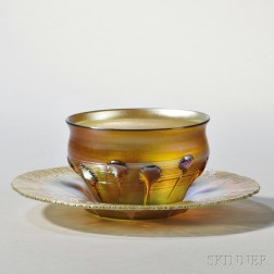 Tiffany Favrile Bowl with Undertray