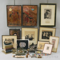 Group of Judaic and Jewish-themed Decorative Articles