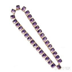 Antique Gold and Amethyst Necklace