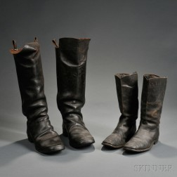 Two Pairs of Civil War-era Boots