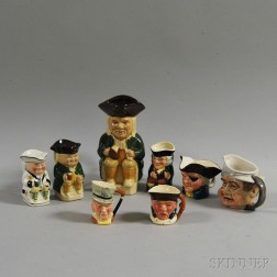 Eight Assorted Toby Jugs