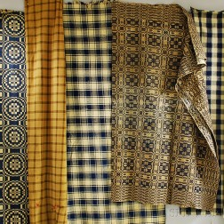 Five Hand-woven Wool Textiles
