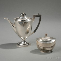 Two Victorian Sterling Silver Tea Wares