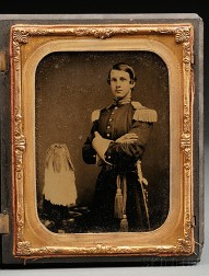 Cased Militia Officer's Half Plate Ambrotype