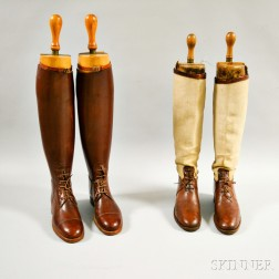 Two Pairs of Leather Women's English-style Riding Boots