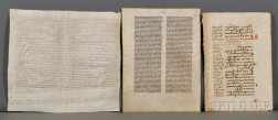 Manuscript Leaves and Documents.
