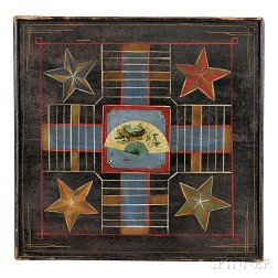 Polychrome Paint-decorated Game Board
