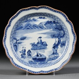 Kakiemon Blue and White Plate