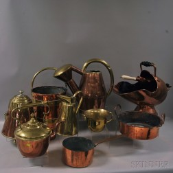 Ten Copper and Brass Items