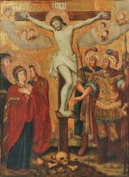 Polish School, 18th/19th Century      Altarpiece Depicting the Crucifixion