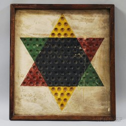 Painted Pine Chinese Checkers Board