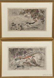 Otto Eduard Voigt (German, 1870-1949)      Two Framed Prints of Pheasants: Amherstfasan