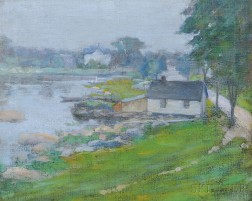 Roswell Stone Hill (American, 1861-1907)      Quiet Harbor