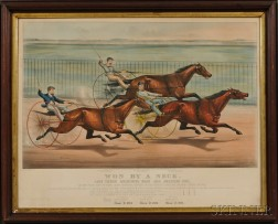 Currier & Ives, publishers (American, 1857-1907)       Won By a Neck