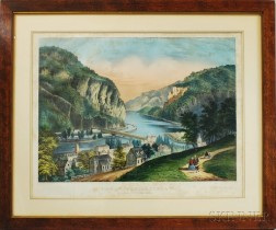 Currier & Ives View of Harpers Ferry, VA. (from the Potomac Side)