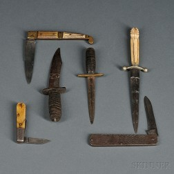 Group of Small Knives and Daggers