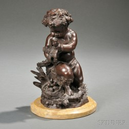 Bronze Figure of an Infant Satyr