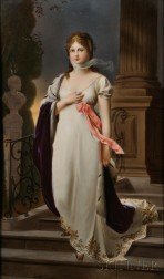 Hand-painted KPM Porcelain Plaque Depicting Queen Louise of Prussia