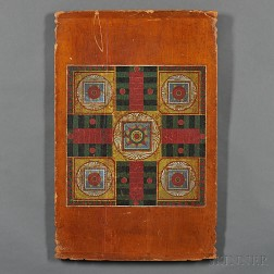 Polychrome Paint-decorated Two-sided Gameboard