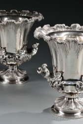 Two Victorian Elkington, Mason & Co. Silver-plate Wine Coolers