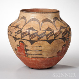 Zia Polychrome Pottery Jar