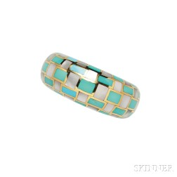 18kt Gold, Mother-of-pearl, and Turquoise Bracelet, Tiffany & Co.