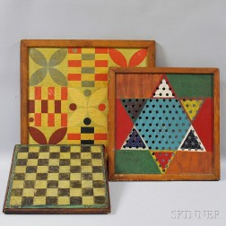 Three Painted Game Boards