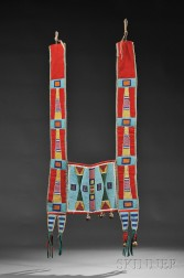Crow Beaded Cloth and Hide Horse Collar