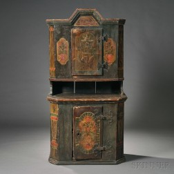 Dutch Polychrome Painted Cabinet