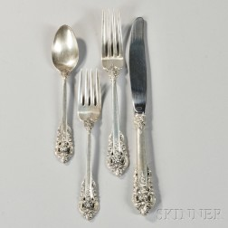"Wallace ""Grand Baroque"" Pattern Sterling Silver Flatware Service"