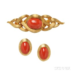 18kt Gold and Coral Suite, Henry Dunay
