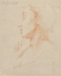 Attributed to Pompeo Girolamo Batoni (Italian, 1708-1787)      Profile of a Woman