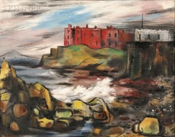 Norah McGuinness (Irish, 1901-1980)      The Red Castle, Portsteward