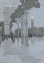 Jules Guerin (American, 1866-1946)      The Washington Arch in Washington Square