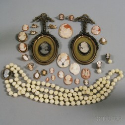 Group of Cameo Jewelry and Accessories