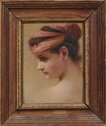 Anglo/American School, 19th Century      Portrait of a Woman in Profile