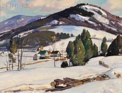 Aldro Thompson Hibbard (American, 1886-1972)      Winter Landscape