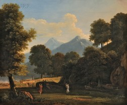 Jean-Victor Bertin (French, 1767-1842)      Mountainous Landscape with Classical Figures