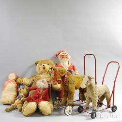 Group of Assorted Dolls and Toys