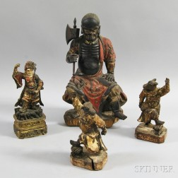 Four Wooden Figures