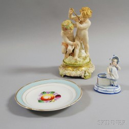 Three Pieces of KPM Porcelain