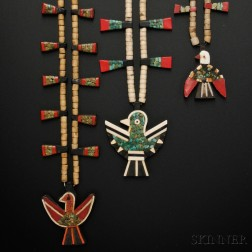 Three Santo Domingo Pueblo Mosaic Necklaces