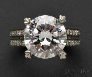 Sold for: $385,500 - Diamond Solitaire